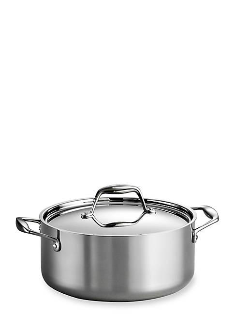 Gourmet Tri-Ply Clad 18/10 Stainless Steel Induction-Ready 5-Qt. Covered Dutch Oven - Online Only