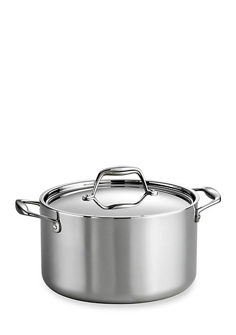 Gourmet Stainless Steel Induction-Ready 6-qt. Covered Sauce Pot - Online Only