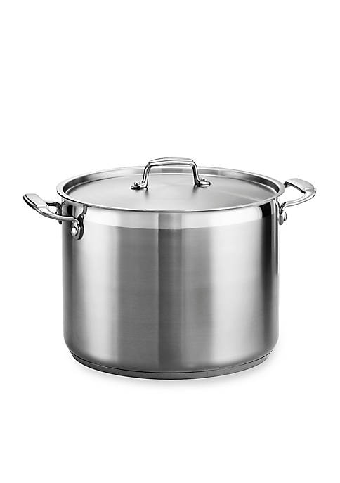 Gourmet 16-qt. Stainless Steel Covered Stock Pot - Online Only