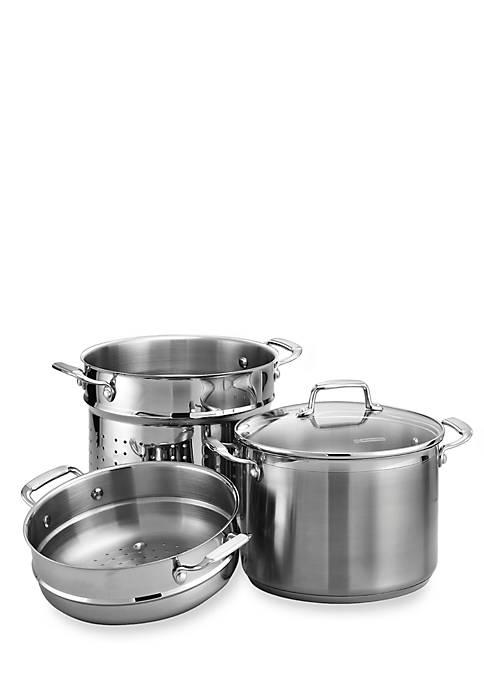 Gourmet 4-Piece 8-qt. Stock Pot Multi-Cooker - Online Only