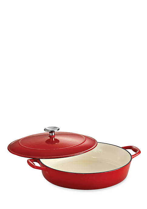 Tramontina Gourmet 4-qt. Red Enameled Cast Iron Covered