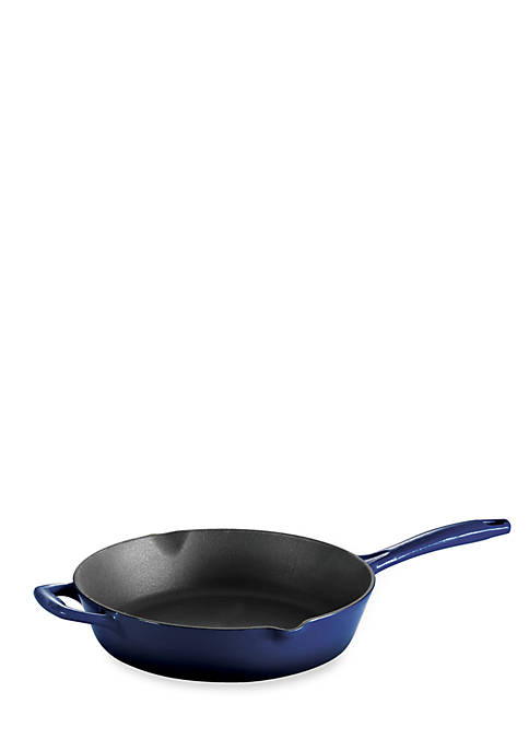 Tramontina Gourmet 10-in. Cobalt Enameled Cast Iron Skillet