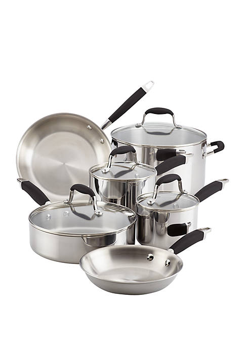 Anolon 10 Piece Tri-Ply Stainless Steel Cookware Set