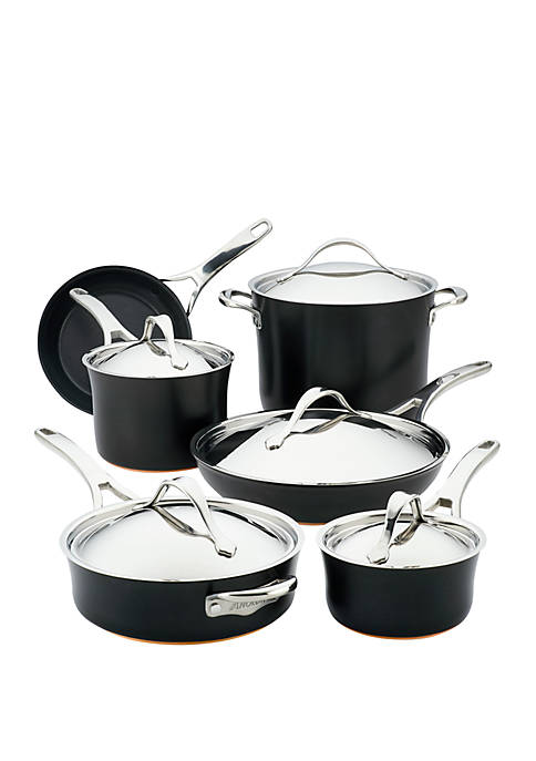 Anolon 11 Piece Nouvelle Copper Luxe Hard-Anodized Nonstick