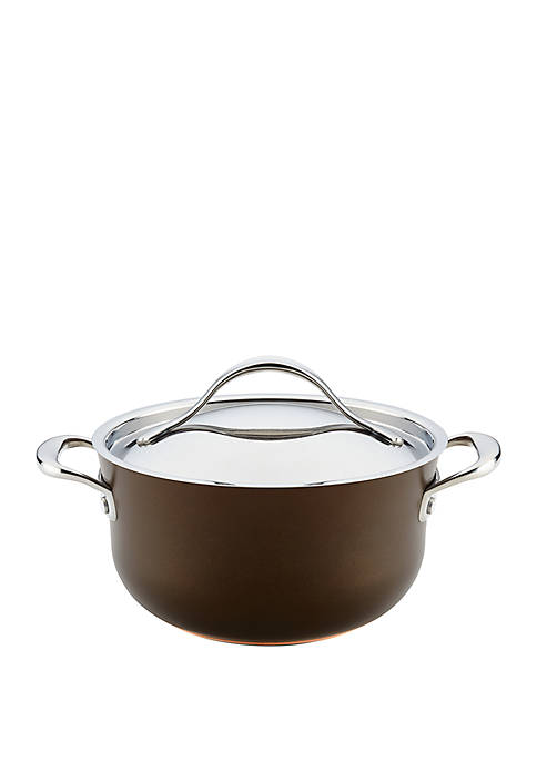 Anolon Nouvelle Copper Luxe Hard-Anodized Nonstick Casserole 4