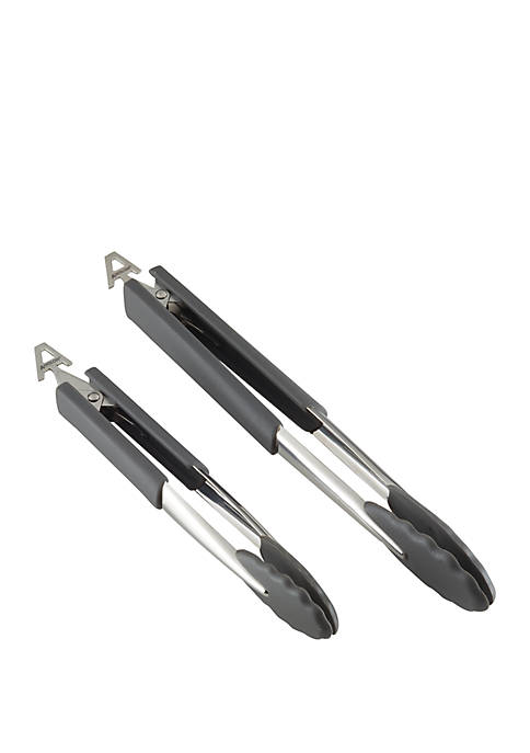 Anolon SureGrip Nonstick Nylon Locking Tongs Set, 2
