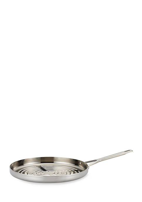 Anolon 12-in. Stainless Steel Deep Round Grill Pan