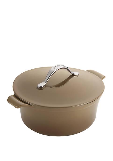 Anolon 5 Quart Round Umber Vesta Cookware Cast