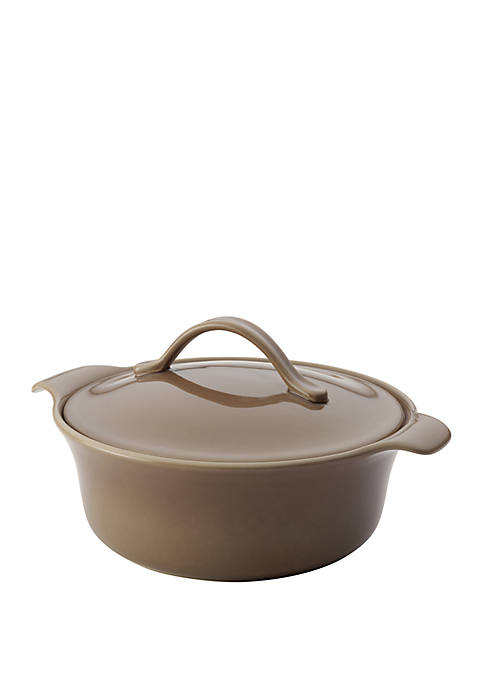 Vesta Ceramics 2.5 Quart Round Umber Casserole