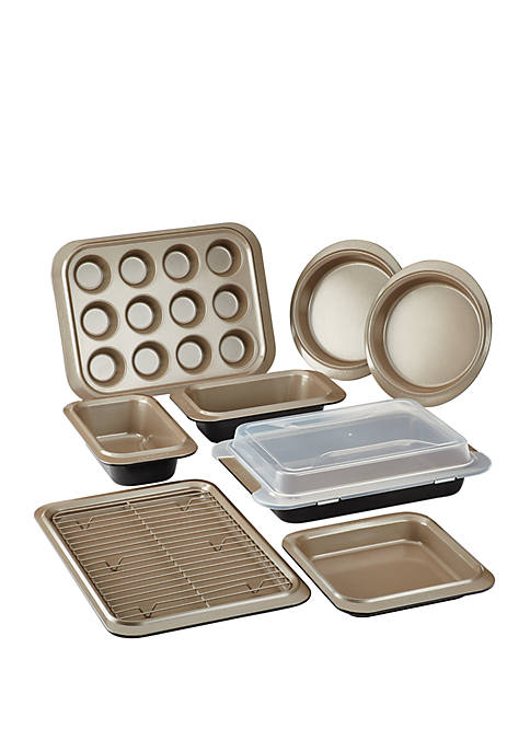 Anolon Eminence Nonstick Bakeware Set, 10-Piece, Onyx with