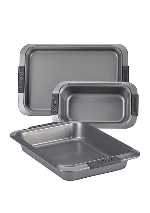 Anolon Advanced Nonstick Bakeware Set, 3 Piece Set-Gray