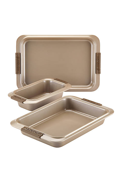 Anolon Advanced Bronze Nonstick 3-Piece Bakeware Sweet &