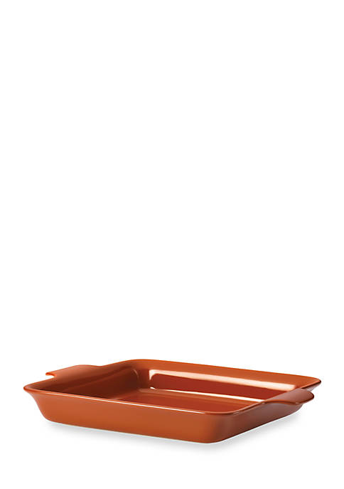 Anolon Vesta Stoneware 9-in. Square Baker, Persimmon Orange
