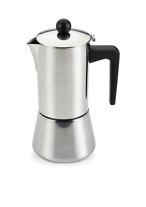 BonJour® Stainless Steel 6-Cup Stove top Espresso Maker