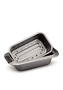 Nonstick 2-Piece Loaf Pan Set with Silicone Grips