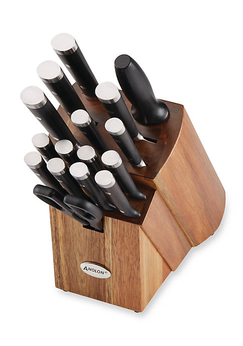 17-Piece Japanese Stainless Steel Knife Block Set