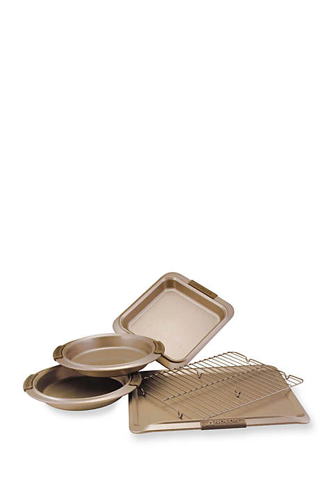 Anolon Advanced 5-Piece Bronze Bakeware Set