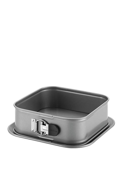 Advanced Nonstick Bakeware 9 in Gray Square Springform Dessert Pan with Silicone Grip