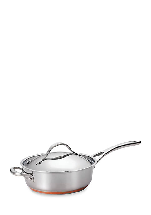 Anolon Nouvelle Copper Stainless Steel 3-qt. Covered Saute