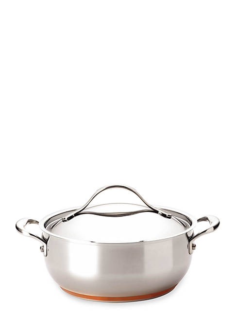 Anolon Nouvelle Copper Stainless Steel 4-Quart Covered Chef
