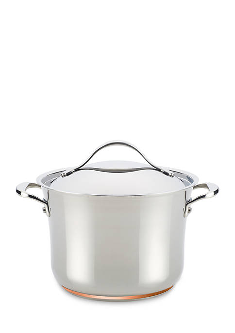 Anolon Nouvelle Copper Stainless Steel 6.5 Quart Covered