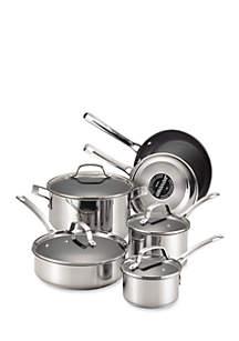 Genesis Stainless Steel Nonstick 10-Piece Cookware Set - Online Only