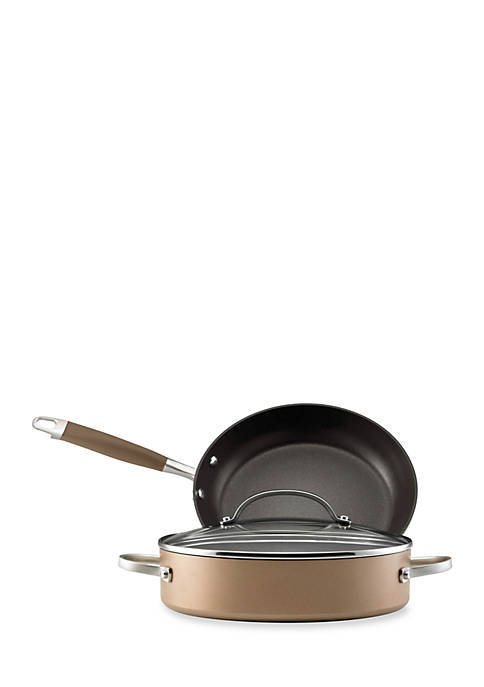 Anolon Bronze Hard Anodized Nonstick 3-Piece Set