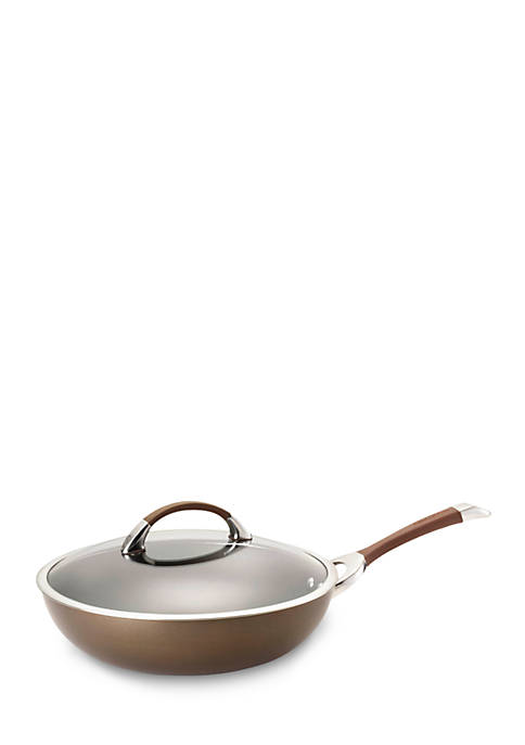 Circulon Symmetry Chocolate Hard-Anodized Nonstick 12-in. Covered