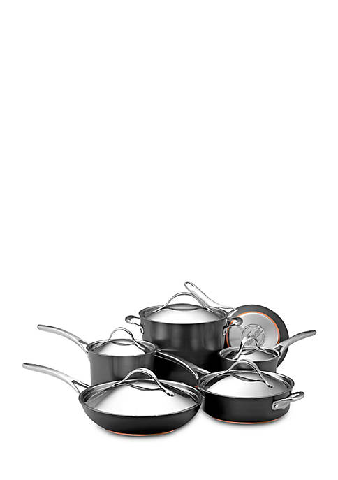 Anolon Nouvelle Copper Hard-Anodized Nonstick 11-Piece Cookware
