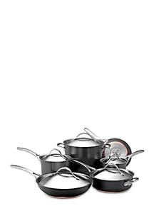 Nouvelle Copper Hard-Anodized Nonstick 11-Piece Cookware Set