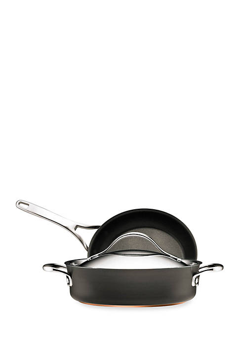 Anolon Nouvelle Copper Hard Anodized Nonstick 3-Piece set