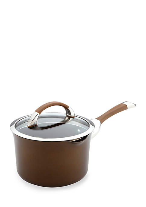 Symmetry Chocolate Hard-Anodized Nonstick 3.5-qt. Covered Straining Saucepan