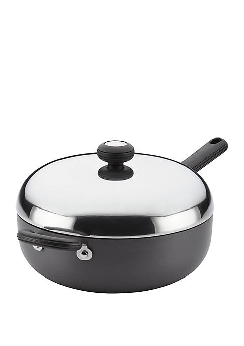 Classic Hard Anodized Nonstick Chef Pan with Helper Handle, 4 Quart