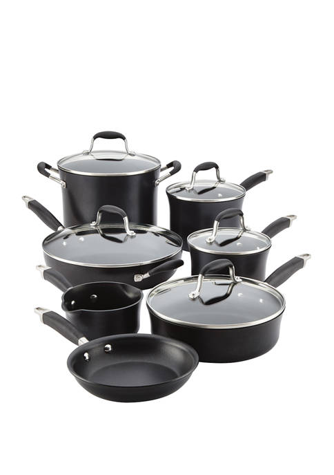 Advanced Onyx Hard-Anodized Nonstick 12 Piece Cookware Set