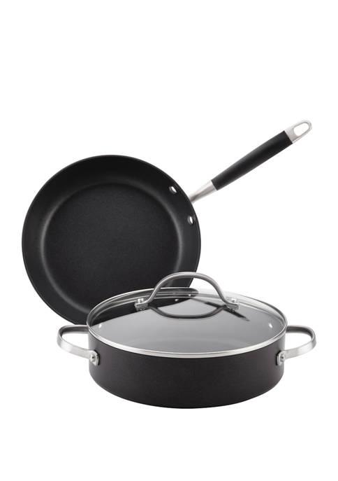 3-Piece Advanced Onyx Hard-Anodized Nonstick Cookware Set