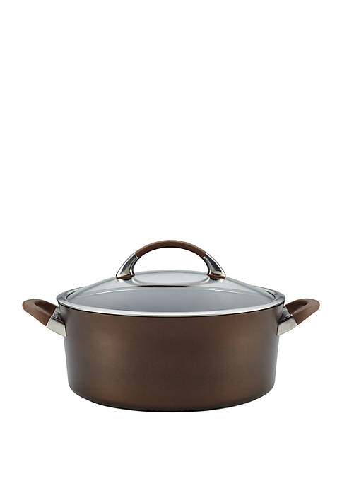Circulon Symmetry Hard Anodized Nonstick Covered Dutch Oven,