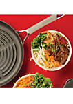11 in Oyster Gray Elementum Hard Anodized Nonstick Deep Round Grill Pan