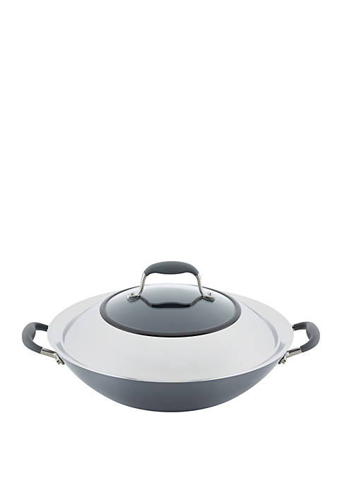 Advanced Home Hard Anodized 14 Inch Nonstick Wok with Side Handles