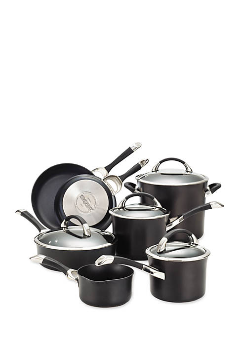 Anolon Symmetry Hard Anodized Nonstick 11-Piece Cookware Set,