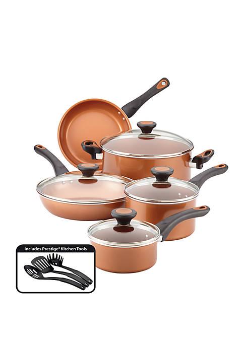 Farberware Glide Copper Ceramic 12 Piece Nonstick Cookware