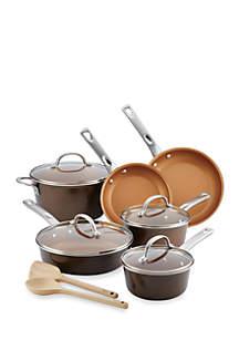 Home Collection 12-Piece Porcelain Enamel Nonstick Cookware Set