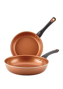Farberware Glide Copper Ceramic Nonstick Skillet Twin Pack