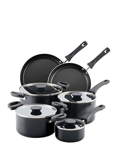 Neat Nest Space Saving Aluminum 10 Piece Nonstick Cookware Set