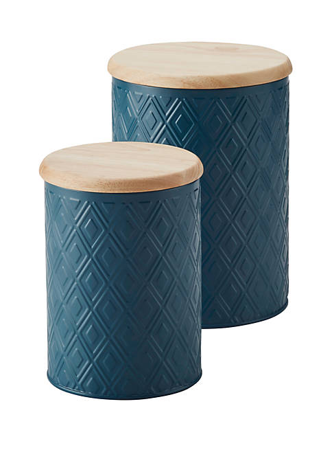 Ayesha Curry Pantryware Small and Medium Metal Canister