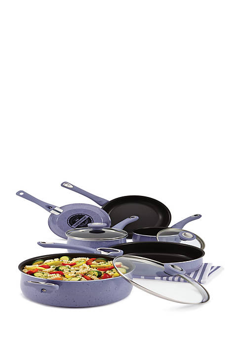New Traditions Speckled Aluminum Nonstick 12-Piece Cookware Set,