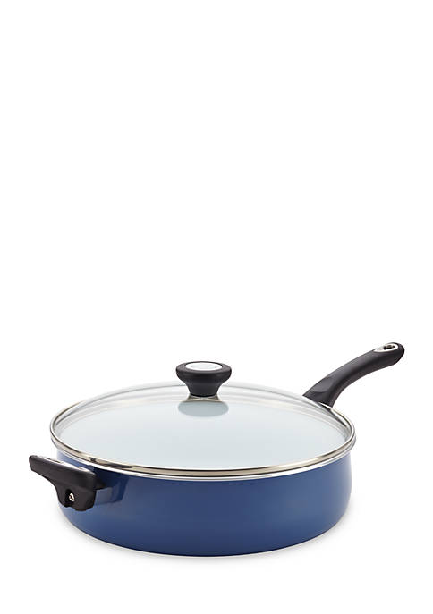 PURECOOK Ceramic Nonstick Cookware 5 Qt Covered Jumbo Cooker with Helper Handle