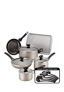 Dishwasher Safe Nonstick 15-Piece Cookware Set - Champagne