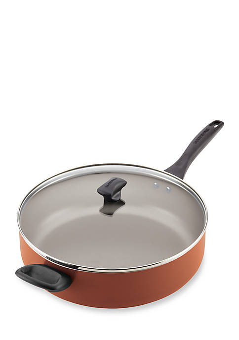Nonstick Aluminum Covered Jumbo Cooker with Helper Handle, 6-qt.