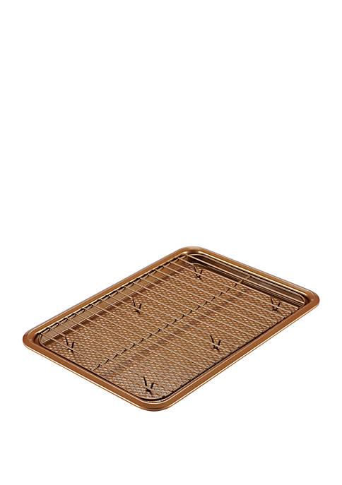 2 Piece Bakeware Cookie Pan Set, Copper