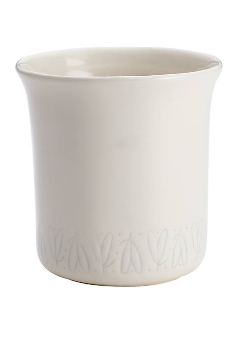 Ayesha Curry Ceramic French Vanilla Tool Crock